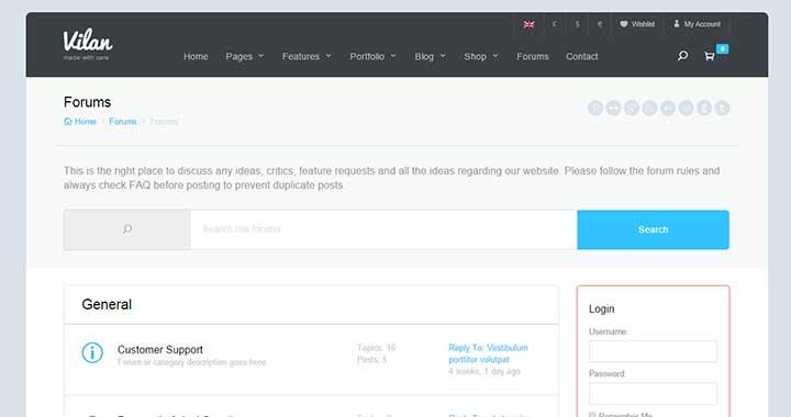 Vilan WordPress Forum Theme