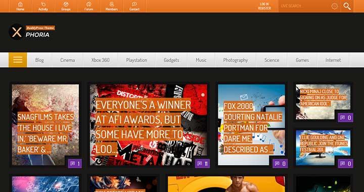 Xphoria WordPress Community Theme