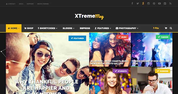 Xtreme Mag WordPress Dark Theme