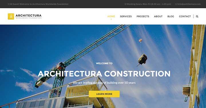 Architectura wordpress themes architecture company