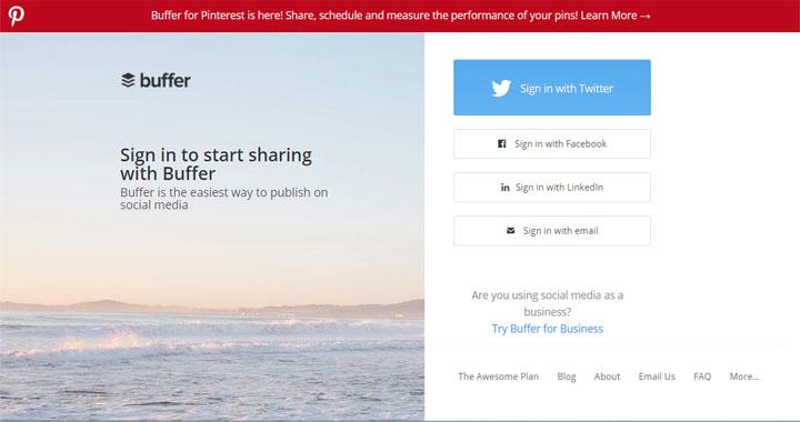 Buffer twitter management tool