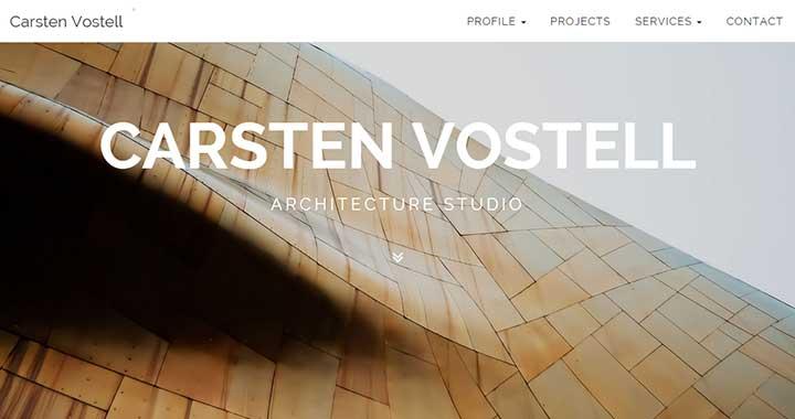 Carsten Vostell best free architecture wordpress themes
