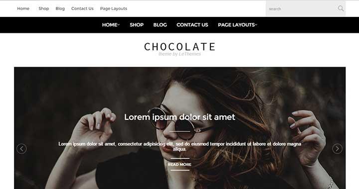 Chocolate new wordpress theme august 2015