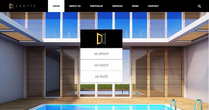Crofts architecture wordpress themes
