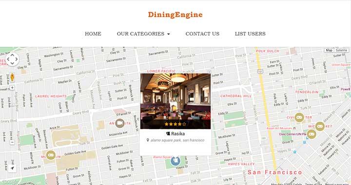 DiningEngine WordPress Theme