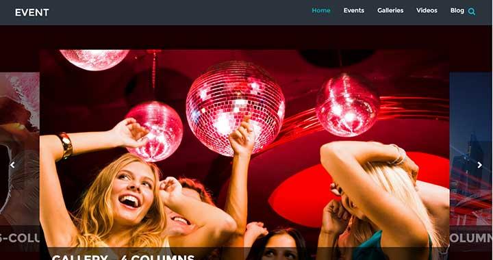 Event nightclub wordpress template