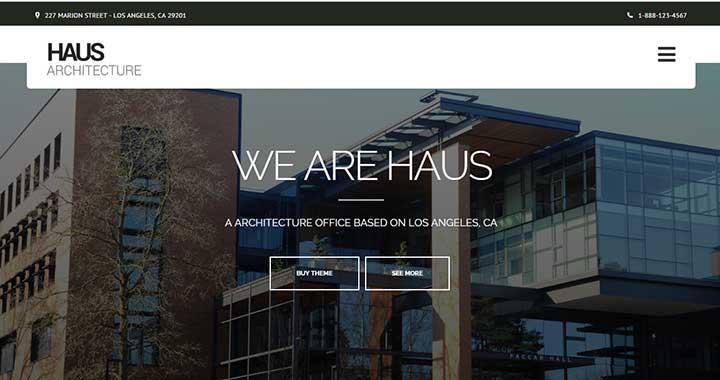 Haus premium wordpress themes architecture