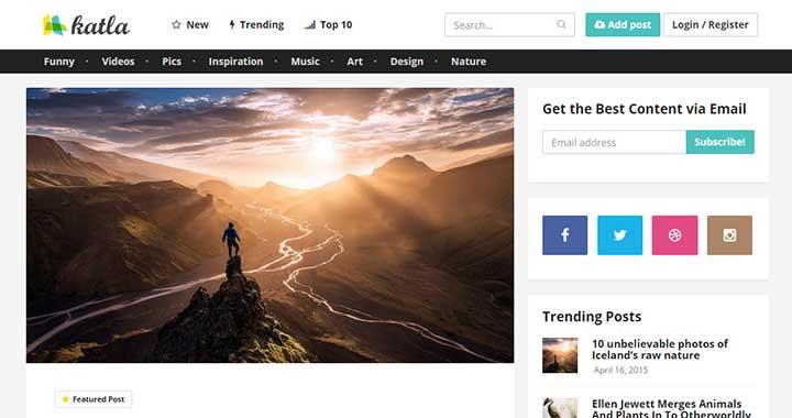 Katla best content sharing wordpress theme