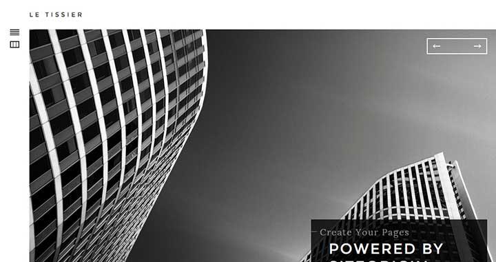 Le Tissier wordpress themes architecture portfolio