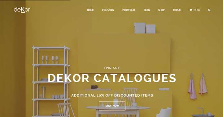 deKor architecture wordpress theme download