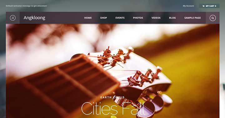 Angkloong wordpress music themes responsive