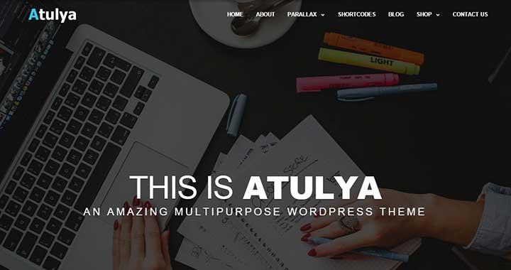 Atulya good small business WordPress theme