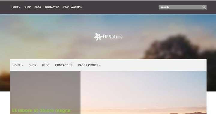 DeNature new wordpress themes september