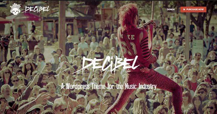 Decibel premium wordpress themes music blog