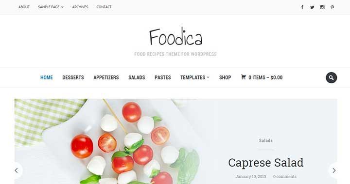 Foodica responsive simple theme