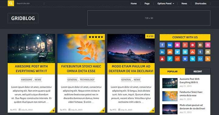 GridBlog new wordpress themes september 2015