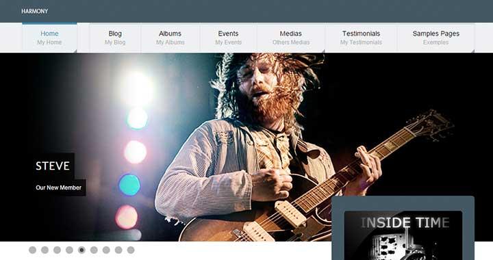 Harmony best wordpress music blog themes