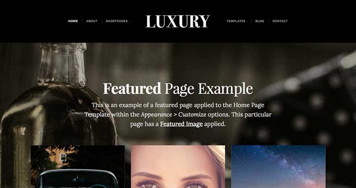 Luxury wp free themes