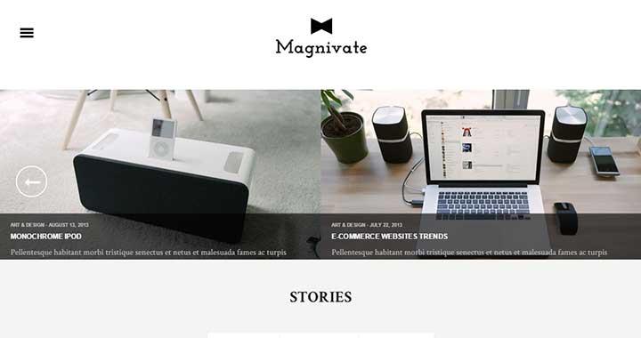 Magnivate simple wordpress theme