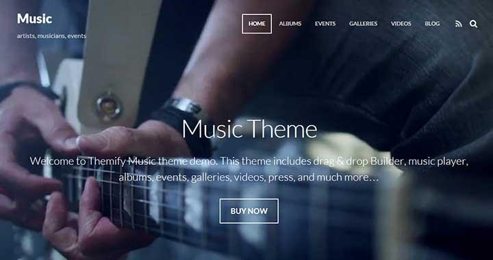 wordpress music themes 2015
