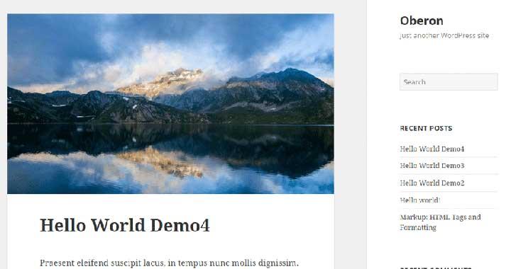 Oberon wordpress new themes