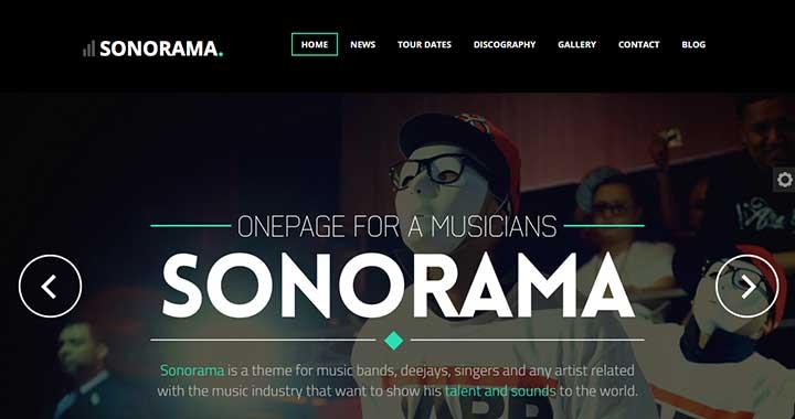 Sonorama wordpress themes music club