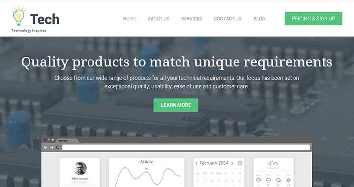 Tech small business WordPress themes 2015