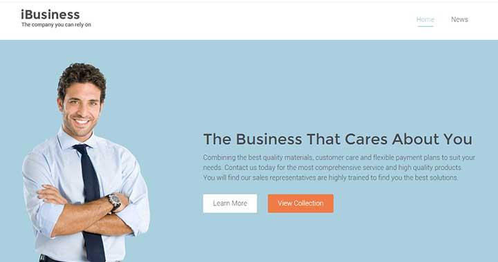 iBusiness small business website WordPress theme