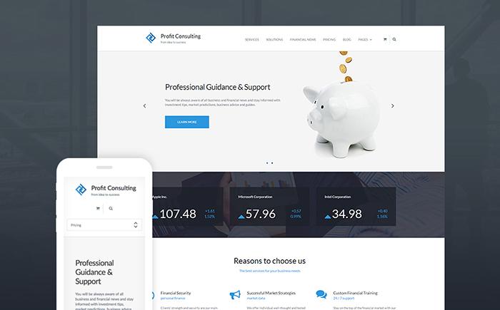 Profit Consulting - Financial Advisor WordPress Theme
